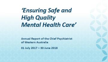 Chief Psychiatrist's Annual Report 2017-2018
