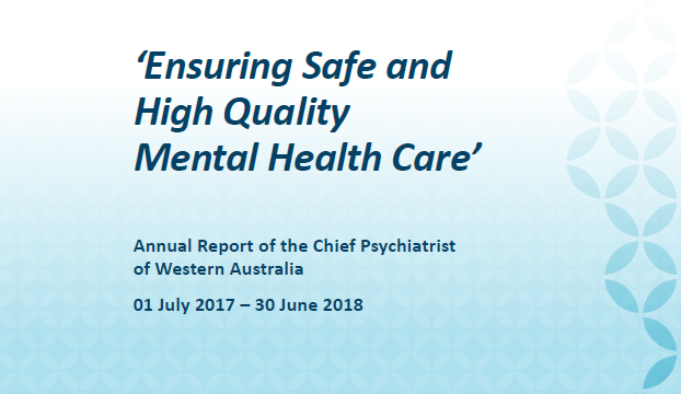 Chief Psychiatrist's Annual Report 2017-2018